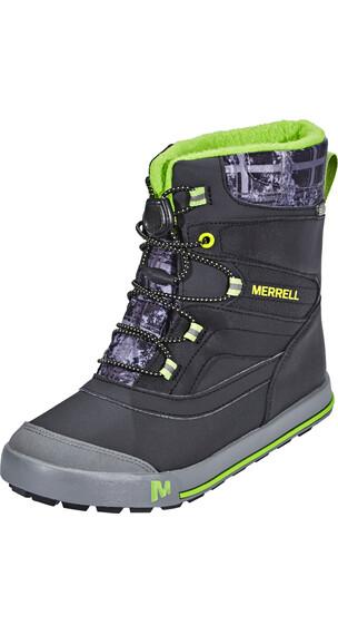 Merrell Snow Bank 2.0 wodoodporne Buty Dzieci szary/czarny